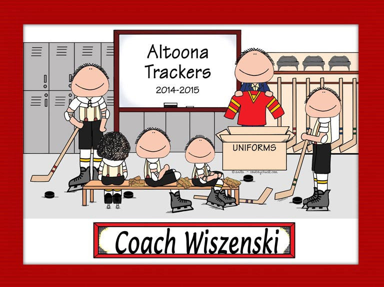 Ice Hockey Coach Cartoon Picture