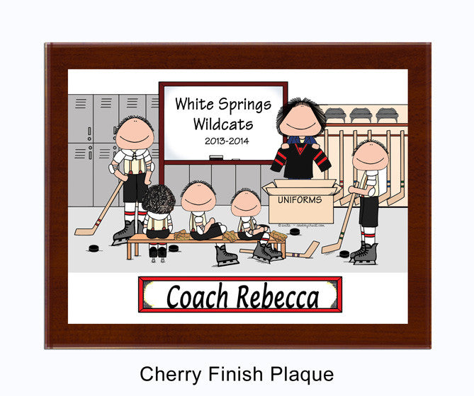 Ice Hockey Coach Plaque