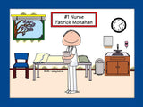#1 Nurse Cartoon Picture Male - Personalized 8244