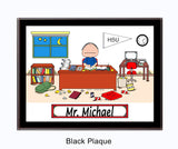 8248 Dorm Room Plaque Male - Personalized