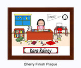 8249 Dorm Room Plaque Female - Personalized