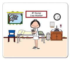 #1 Nurse Mouse Pad Female Personalized