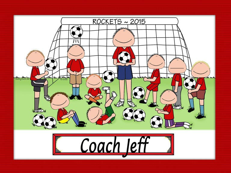 Soccer Coach Cartoon Picture