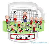 Soccer Coach Mug male with Male Players