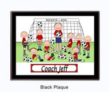 Soccer Coach Male with Male Players Personalized