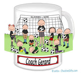 Soccer Coach Mug Male with Mixed Players