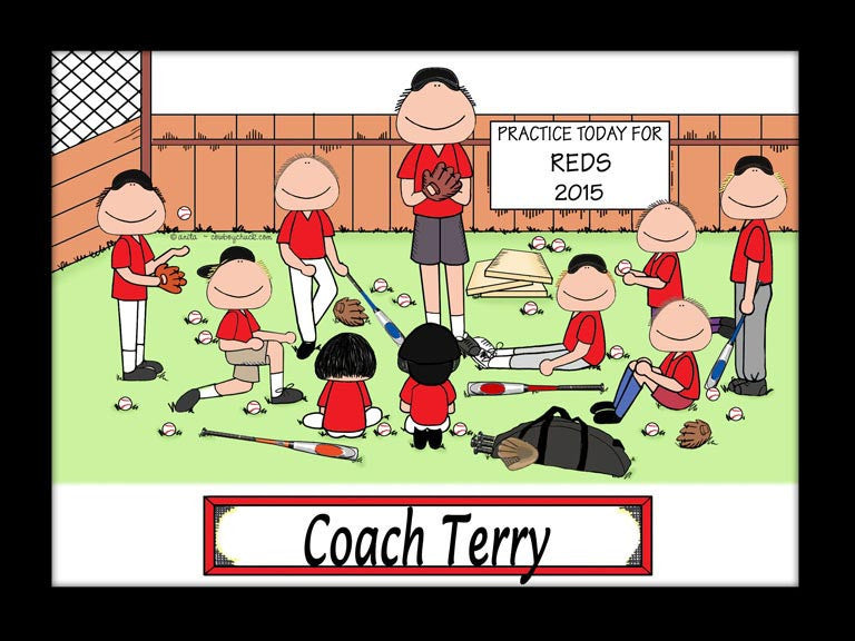 Baseball Coach Cartoon Picture