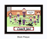 Baseball Coach Plaque - Male with female players