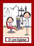 Eye Doctor Cartoon Picture Female - Personalized 8265