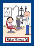 Eye Doctor Cartoon Picture Male - Personalized 8266