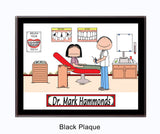 8270 Orthodontist Male with Female Patient Black Plaque - Personalized