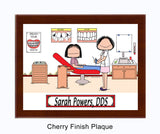 8268 Orthodontist Female with Female Patient Cherry Plaque- Personalized