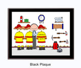 Fire Station / Fireman Plaque Male - Personalized