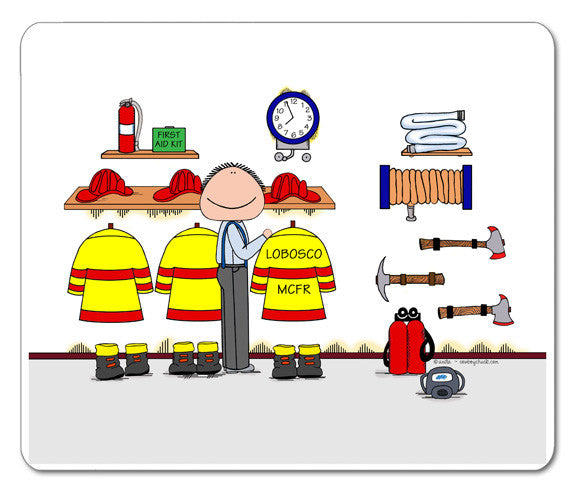 Fire Station Mouse Pad
