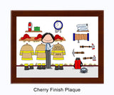 Fire Station / Firefighter Plaque Female - Personalized