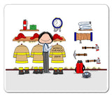 Fire Station Mouse Pad Female Personalized