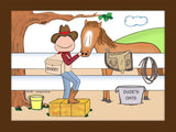 Cowboy / Horse Lover Cartoon Picture - Personalized 8278