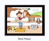 Cowboy / Horse Lover Plaque Male - Personalized