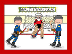Hockey Star Cartoon Picture Male - Personalized 8284