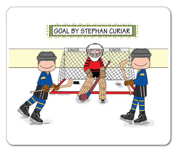Hockey Star Mouse Pad Male - Personalized