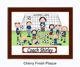 Soccer Coach Plaque Female with Female Players - Personalized