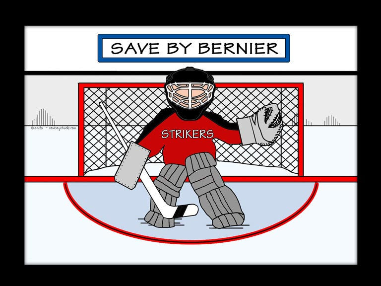 Ice Hockey Goalie Cartoon Picture
