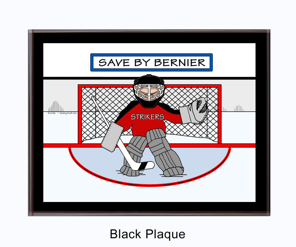 Ice Hockey Goalie Plaque