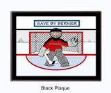 Hockey Goalie Plaque Personalized