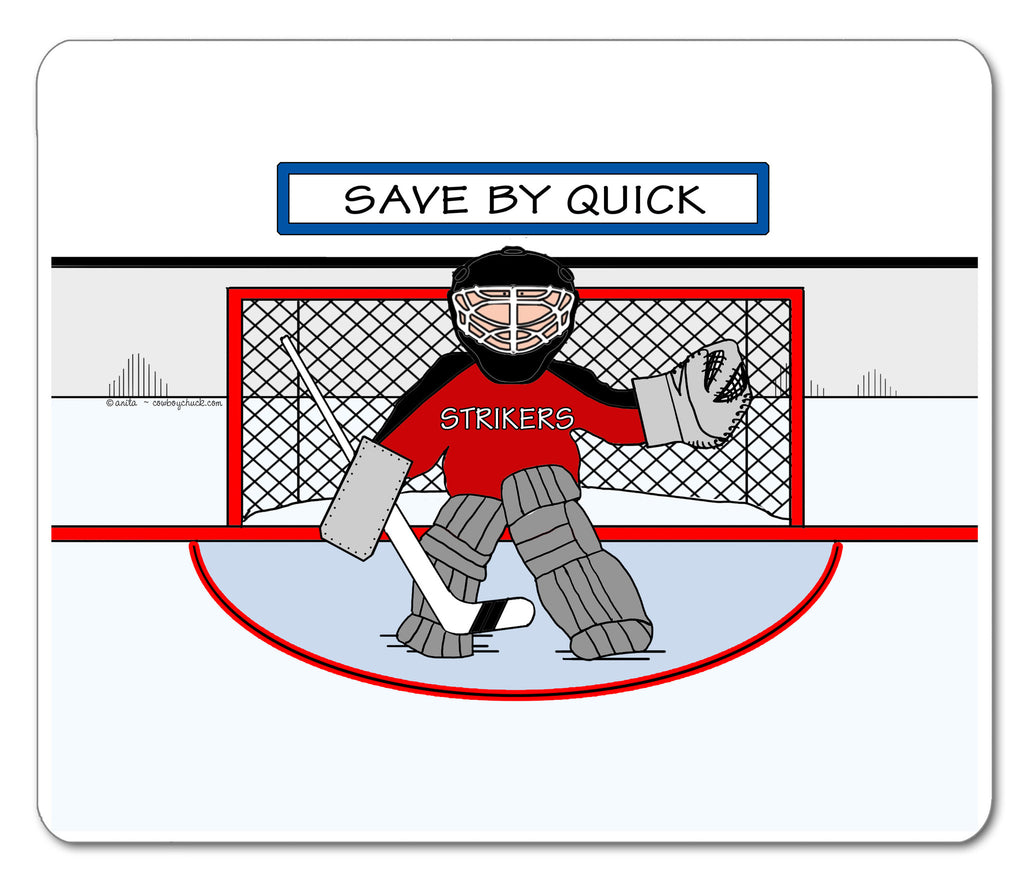 Ice Hockey Goalie Mouse Pad