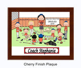 Baseball Coach Plaque - Female with mixed players