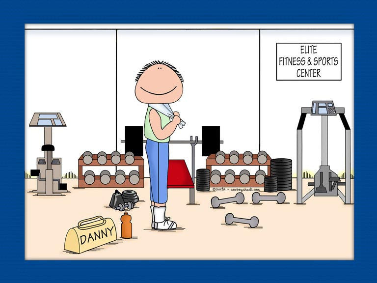 Gym / Work Out Cartoon Picture