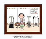 Gym / Work Out Plaque Female - Personalized
