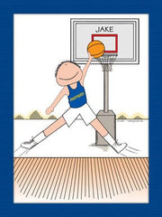 Basketball Star Cartoon Picture Male - Personalized 8306