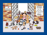 Dog Lover Cartoon Picture Female - Personalized 8319