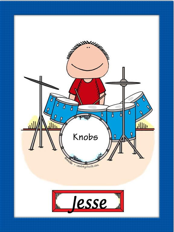 Drummer Cartoon Picture Male - Personalized 8320