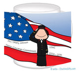 Marine Dress Mug Female Personalzied