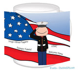 Marine Dress Mug Male Personalized