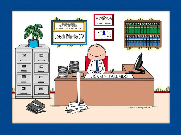 Accountant Cartoon Picture