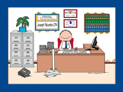 Accountant Cartoon Picture Male - Personalized 8328