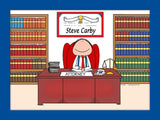 Attorney Cartoon Picture Female - Personalized 8330