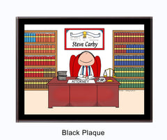 Attorney Lawyer Plaque Male - Personalized