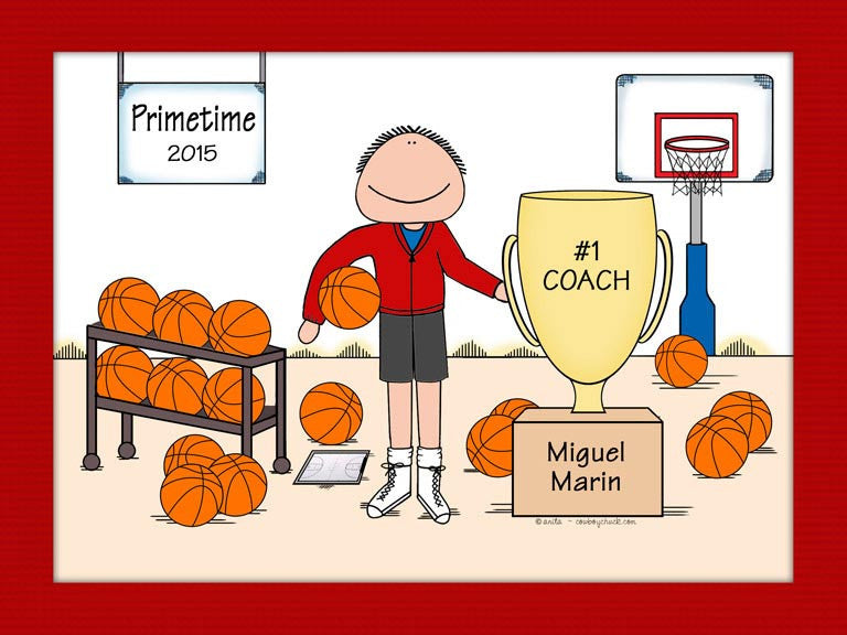 Basketball Trophy Cartoon Picture
