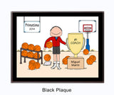 Basketball Trophy Plaque Male - Personalized