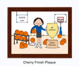 Basketball Trophy Plaque Female - Personalized