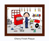 Mechanic Female Plaque Personalized