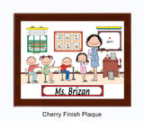 Teacher's Room Plaque Female - Personalized