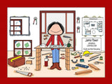 Contractor Cartoon Picture Female Personalized 8345