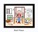 Contractor Plaque Male - Personalized