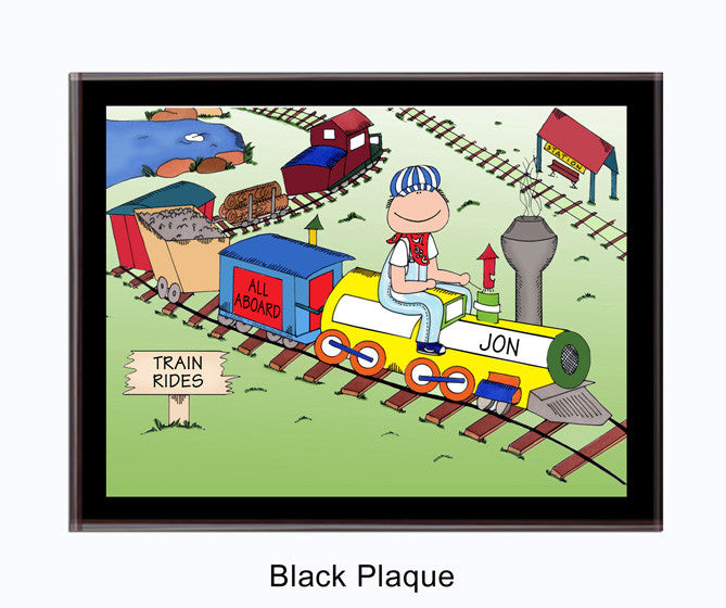 All Aboard Plaque Male - Personalized