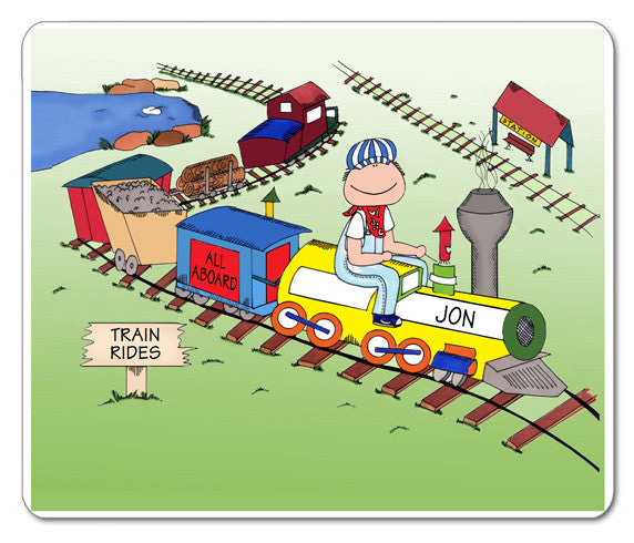 All Aboard Train Lover Mouse Pad
